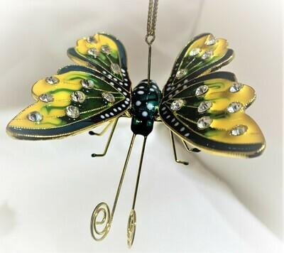 Art Enamel Yellow Butterfly