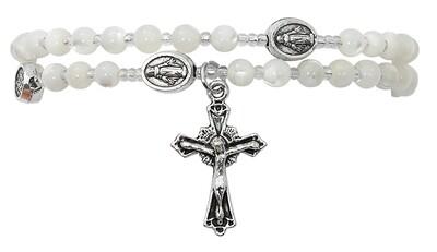 Mother of Pearl Twist Rosary Bracelet