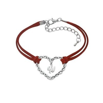 Red Cord Heart and Holy Spirit Bracelet (McVan)