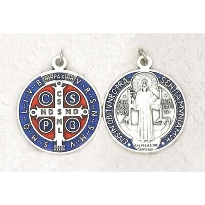 """Scan St Benedict .75""""BluEnaSilve Medal"""