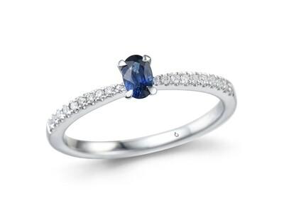 COLOR STONE & DIAMOND RING