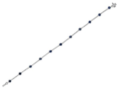 COLOR STONE & DIAMOND BRACELET