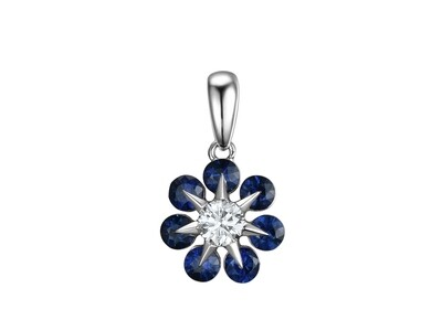 COLOR STONE & DIAMOND PENDANT