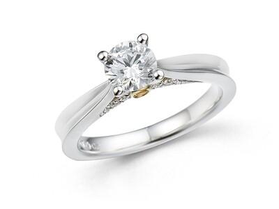 YELLOW SAPPHIRE DIAMOND RING (SETTING ONLY)