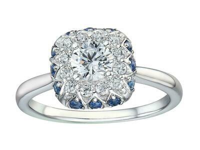 SAPPHIRE DIAMOND RING (SETTING ONLY)