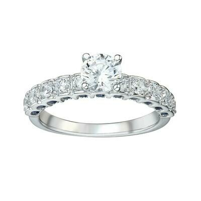 COLOR STONE & DIAMOND RING (SETTING ONLY)
