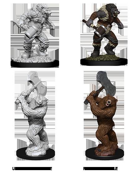 D&D Nolzur's Marvelous Miniatures - Wereboar and werebear (2 Miniature)