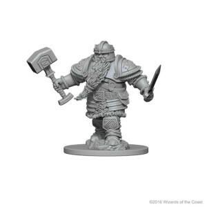 D&D Nolzur's Marvelous Miniatures - Dwarf Male Fighter (2 Miniature)