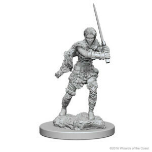 D&D Nolzur's Marvelous Miniatures - Human Female Barbarian (2 Miniature)