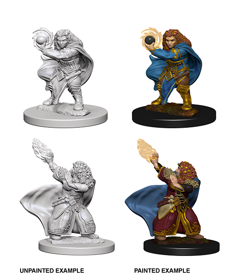D&D Nolzur's Marvelous Miniatures - Dwarf Female Wizard (2 Miniature)