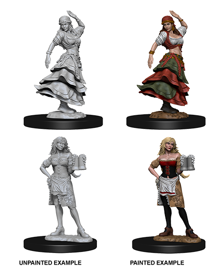 Pathfinder Nolzur's Marvelous Miniatures - Bartender/Dancing Girl (2 Miniature)