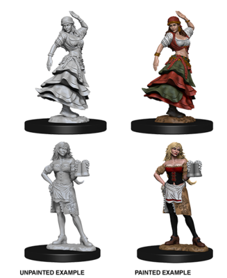Pathfinder Nolzur's Marvelous Miniatures - Bartender/Dancing Girl (2 Miniature)