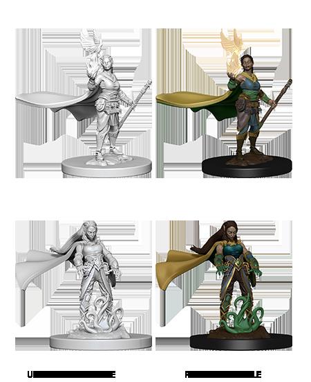 D&D Nolzur's Marvelous Miniatures - Elf Female Druid (2 Miniature)