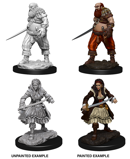 Deep Cuts Nolzur's Marvelous Miniatures - Pirates (2 Miniature)