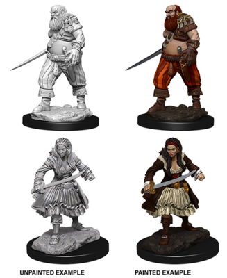 Deep Cuts Nolzur's Marvelous Miniatures - Pirates (2 Miniature)