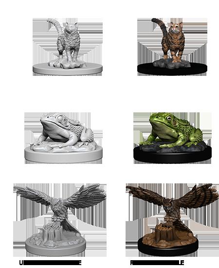 Deep Cuts Nolzur's Marvelous Miniatures - Familiars (3 Miniature)