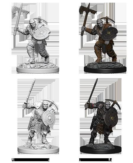 D&D Nolzur's Marvelous Miniatures - Earth Genasi Fighter(2 Miniature)