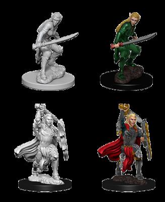 D&D Nolzur's Marvelous Miniatures - Elf Female Fighter (2 Miniature)