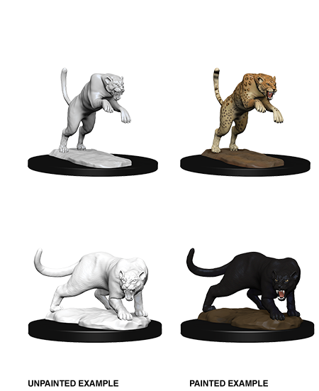 Pathfinder Nolzur's Marvelous Miniatures - Panther & Leopard (2 Miniature)