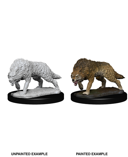 D&D Nolzur's Marvelous Miniatures - Timber Wolves (2 Miniature)