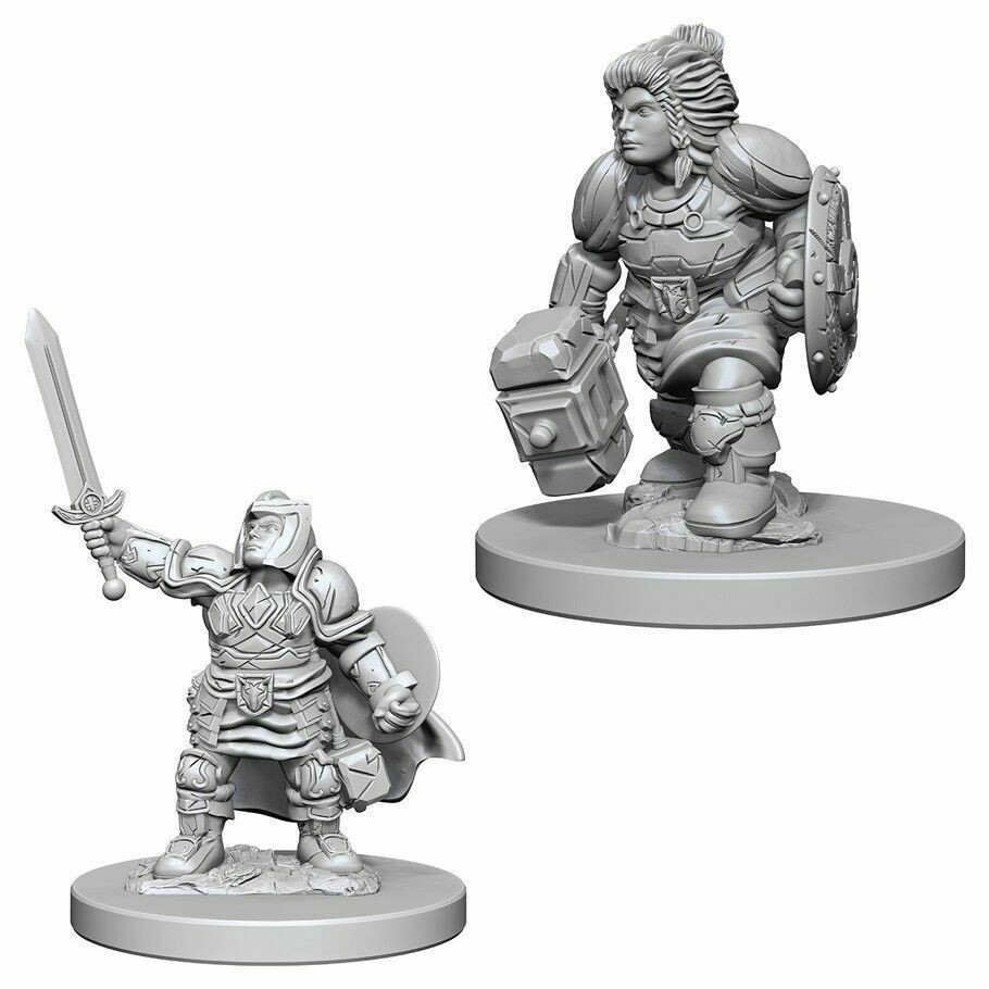 D&D Nolzur's Marvelous Miniatures - Dwarf Female Paladin (2 Miniature)