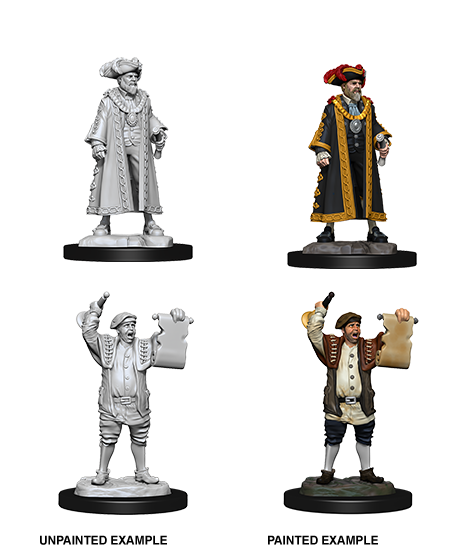 Deep Cuts Nolzur's Marvelous Miniatures - Mayor & Town Crier (2 Miniature)