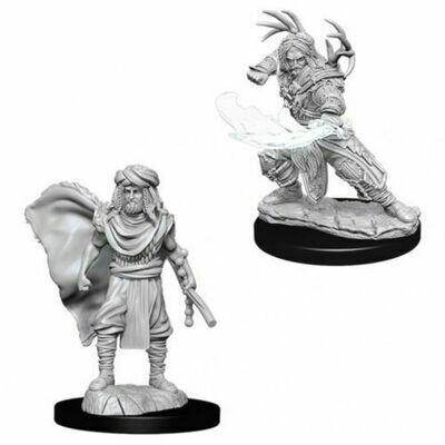 D&D Nolzur's Marvelous Miniatures - Male Human Druid (2 Miniature)