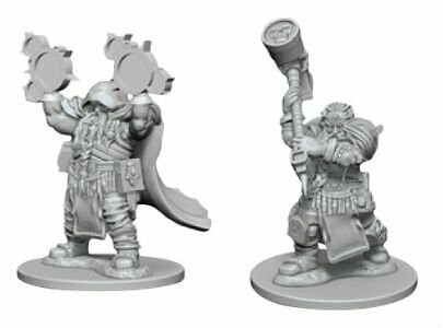 D&D Nolzur's Marvelous Miniatures - Dwarf Male Cleric (2 Miniature)