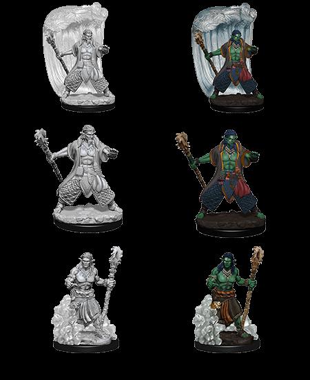 D&D Nolzur's Marvelous Miniatures - Water Genasi Male Druid (2 Miniature)