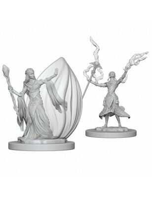 D&D Nolzur's Marvelous Miniatures - Elf Female Wizard (2 Miniature)