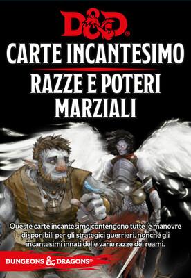 D&D Carte Incantesimo Razze e Poteri Marziali - Quinta Ed.