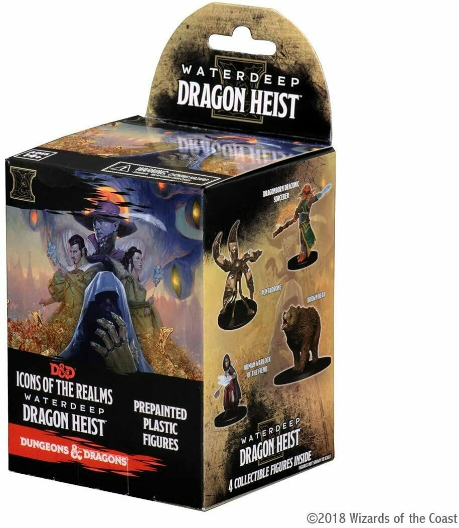 Waterdeep Dragon Heist Booster - D&D Miniatures Icons of the Realms