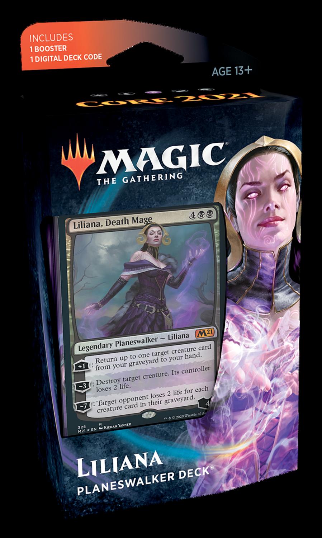 Set Base 2021 Mazzo Planeswalker Liliana - Magic: the Gathering