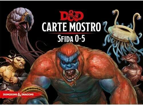 D&D Carte Incantesimo Mostro Sfida 0-5 - Quinta Ed.