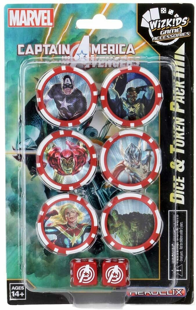 Heroclix Captain America and the Avengers dice and token Pack