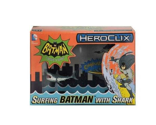Heroclix 1966 Batman surfing and Shark - Exclusive Figure