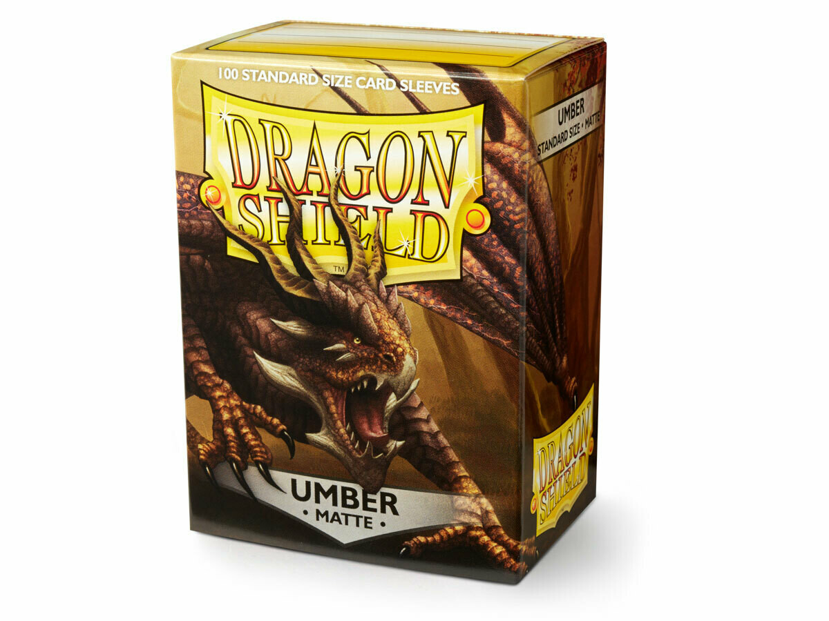 Dragon Shield 100 Sleeves - Matte Umber