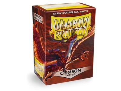 Dragon Shield 100 Sleeves - Matte Crimson