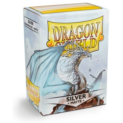 Dragon Shield 100 Sleeves - Matte Silver