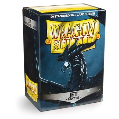 Dragon Shield 100 Sleeves - Matte Jet