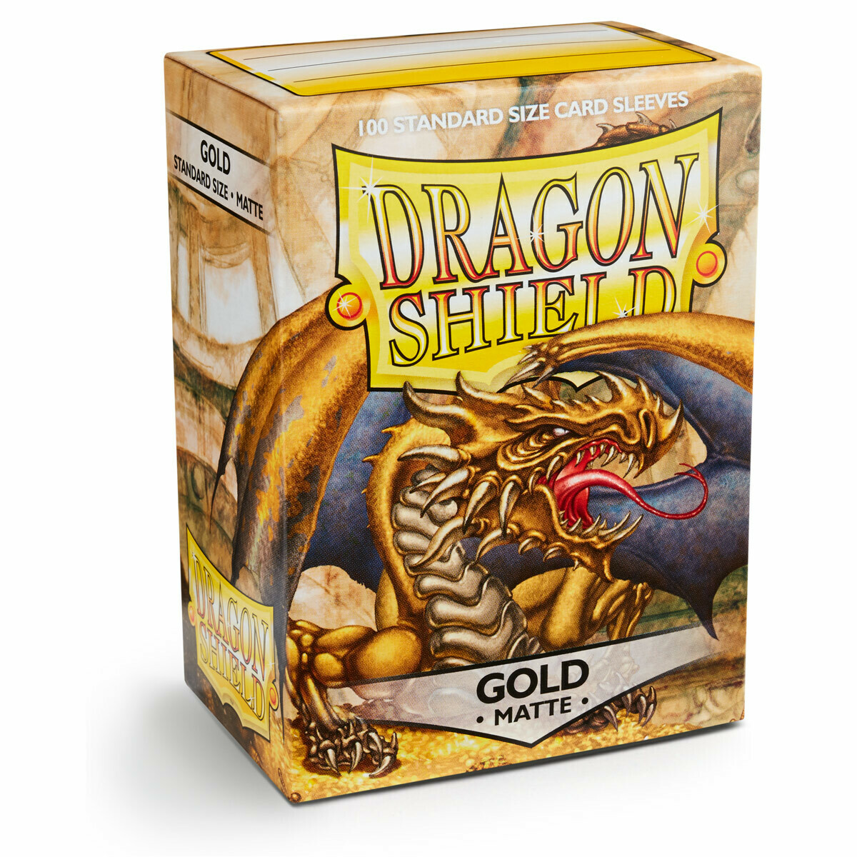 Dragon Shield 100 Sleeves - Matte Gold