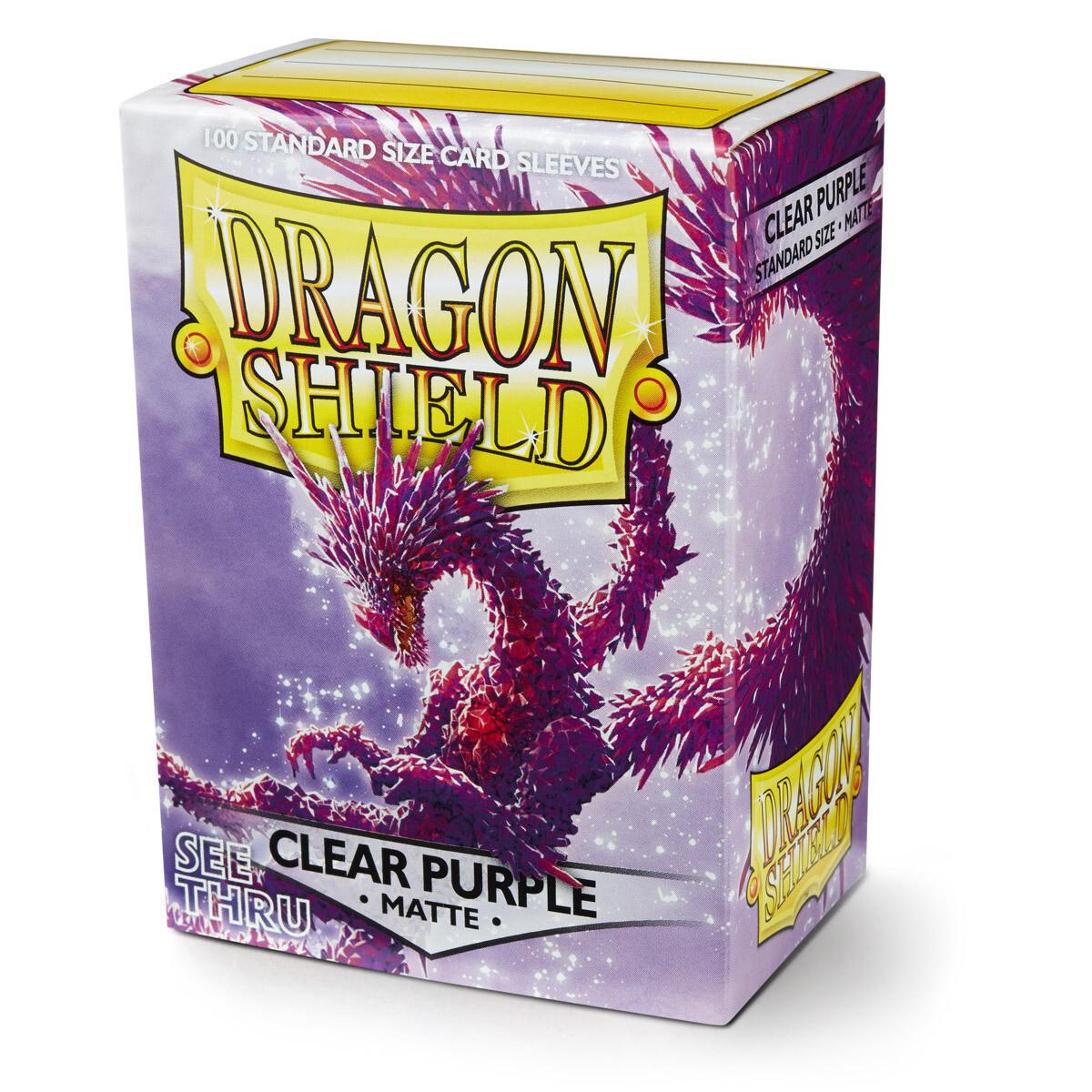 Dragon Shield 100 Sleeves - Matte Clear Purple