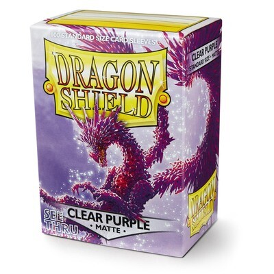 Dragon Shield 100 Sleeves - Matte Clear Purple