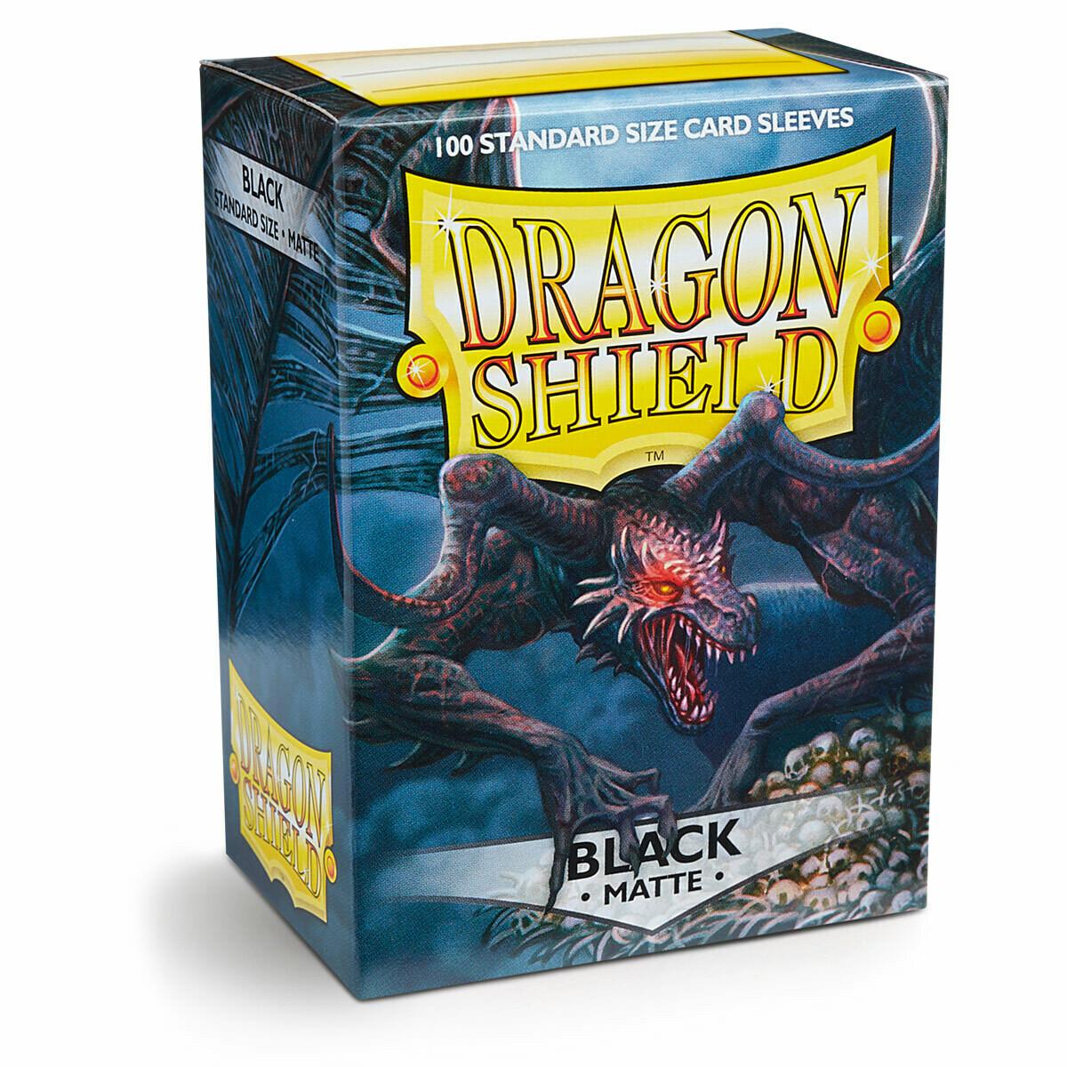Dragon Shield 100 Sleeves - Matte Black