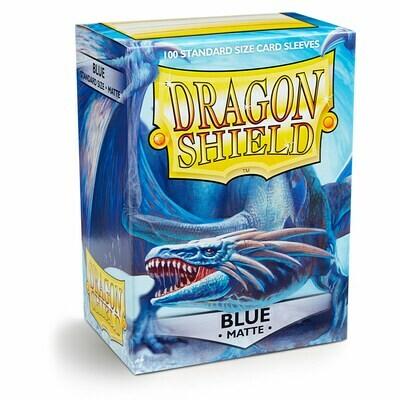 Dragon Shield 100 Sleeves - Matte Blue