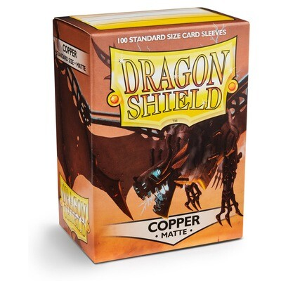 Dragon Shield 100 Sleeves - Matte Copper
