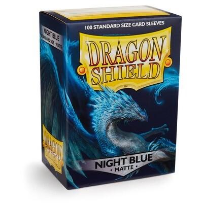 Dragon Shield 100 Sleeves - Matte Night Blue