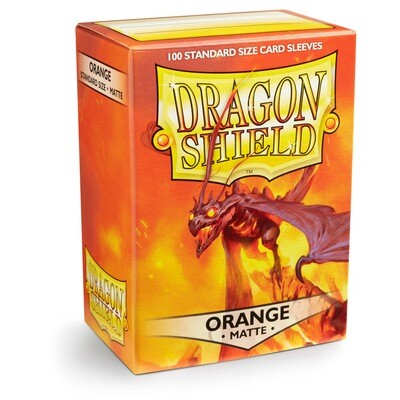 Dragon Shield 100 Sleeves - Matte Orange