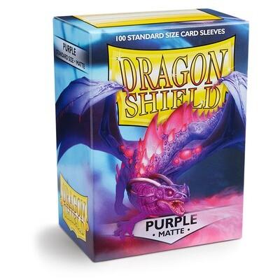 Dragon Shield 100 Sleeves - Matte Purple