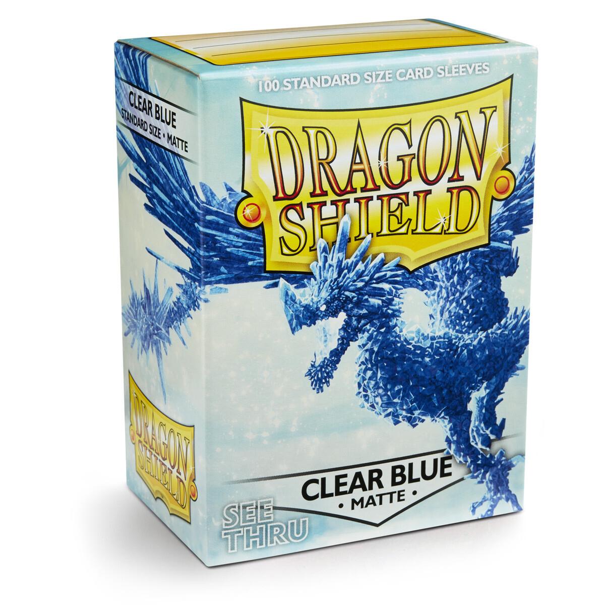 Dragon Shield 100 Sleeves - Matte Clear Blue